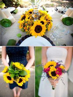 Sonnenblumen verleihen Ihrer Hochzeit eine fröhliche Note! #tollwasblumenmachen #sunflower #wedding