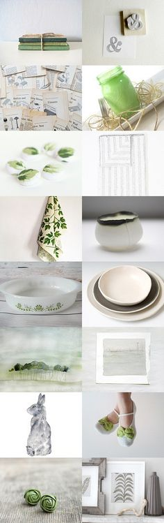 a touch of green by mélanie gibault on Etsy--Pinned with TreasuryPin.com