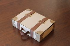 Suitcase favor box by CraftsbyRosa on Etsy, $2.15