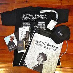 Justin bieber 2016 purpose world tour vip merchandise gift set hat 2016 justin bieber purpose world tour back stage vip pkg bonus t shirt m4hsunfo Choice Image