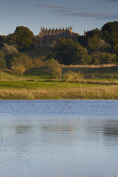 View of the Bishop's Castle at Bishop Auckland - River Wear