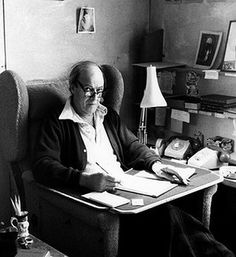 Armed with a flask of coffee, Dahl would head for the hut at around 10.30am and write until lunchtime and a gin and tonic at midday. After a break for reading he would clock in again around 4pm for a couple more hours, though never for too long, as he maintained that a writer couldn't work 'particularly long hours because he can't - he becomes inefficient' Photograph: Harpercollins