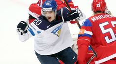 An initially tense semi-final against Russia in Moscow turned into a confident victory for Finland, sending them into Sunday's final with a 100 percent unbeaten tournament record. Ice Hockey Teams, Semi Final, World Championship, Moscow, Finland, Nhl, Lions, Victorious, Confident