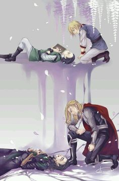 Loki and Thor. Credit on the image. = Feels