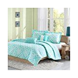 Reversible Teen Kids Girls Teal Comforter Bedding Set with Pillows (Full/queen) Includes Scented Candle Tarts