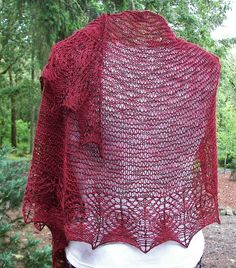 Aase's Shawl by Kristi Holaas | malabrigo Sock in Tiziano Red