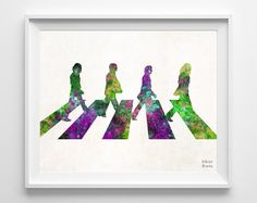 Beatles Art Watercolor The Beatles Poster John by InkistPrints, $11.95 - Shipping Worldwide! [Click Photo for Details]