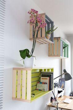 Des étagères déco avec des cagettes en bois! 20 exemples inspirants…
