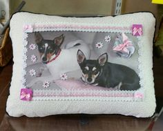 Custom Handmade Photo Pillow: Adorable Pet  by DesertMoonQuiltCo