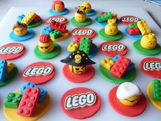 12 Edible Lego Cupcake Toppers with 3D Mini Heads - by SweetPartyTreats on madeit