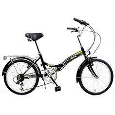 Adult Folding Bikes - Stowabike 20 Folding City Compact Foldable Bike 6 Speed Shimano Gears Black >>> Read more at the image link. Kids Bike Accessories, Mountain Bikes For Sale, Beach Cruiser Bikes, Commuter Bike, Bike Reviews, Touring Bike, Bike Seat, Cool Bikes, Bicycles