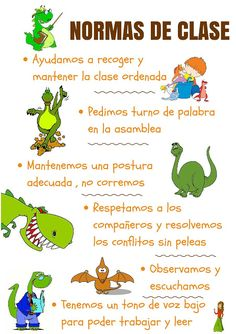Hábitos y rutinas Dinosaur Classroom, Classroom Rules, Spanish Classroom, Classroom Organization, Classroom Decor, Behavior Log, Preschool Behavior, Dinosaur Activities, Inspirational Phrases