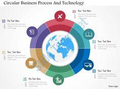 circular business process and technology flat powerpoint design Slide01