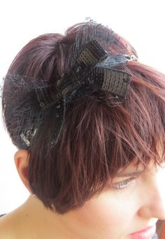 Sequin Bow Accent by Dazzle Me also worn as a headband