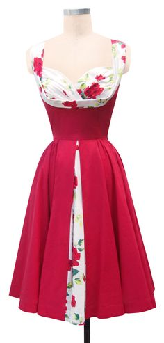 Trashy Diva | Honey baby dress with red roses