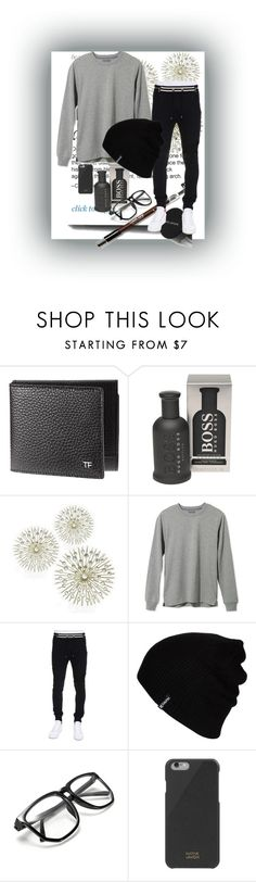 """casual"" by blckfashionn ❤ liked on Polyvore featuring HUGO, L.L.Bean, Balmain, Hurley, Native Union, men's fashion and menswear"