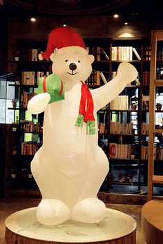 Christmas Xmas Inflatable 8' Bear Lighted Blow Up Holiday Decor Outdoor Indoor #ChristmasXmasInflatable