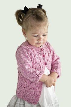 FREE Knitting pattern: Valentine's baby cardigan knitting pattern - download FREE at LoveKnitting!