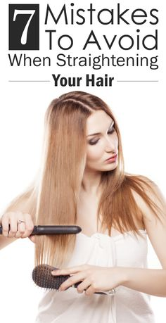 7 Mistakes You're Probably Making When You Straighten Your Hair