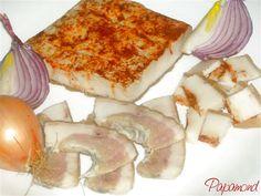 Cum o prepar, bătrâneşte Pork Recipes, My Recipes, Romanian Food, Romanian Recipes, Good Food, Yummy Food, Charcuterie, French Toast, Bacon