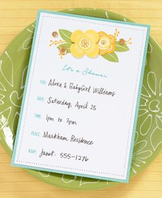 Illustrious Invitations: Inked to Impress. Great for baby showers, bridal showers, weddings, and spring parties!