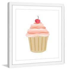 Marmont Hill Cupcake Cherry Framed Wall Art - MH-DIAALC-80-WFP-12