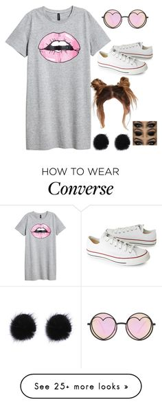 """""""Idk"""" by gustavia5347 on Polyvore featuring Converse and Betsey Johnson"""