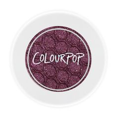 Colour Pop Eyeshadow in Porter - A warm burgundy with gold multi- dimensional gold glitter on top in a Metallic finish