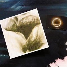 Kiss. Blank greetings/note card printed from original graphite drawing onto heavyweight textured card. 14.8cm x 14.8cm.