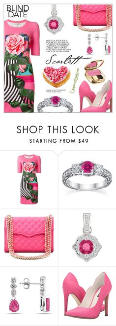 """Dress To Impress (Pink Topaz)"" by applesofgoldjewelry ❤ liked on Polyvore featuring Mary Katrantzou, Rebecca Minkoff, Michael Antonio and Dolce&Gabbana"