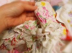 Decorating with Vintage Handkerchief Hankies