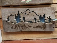 Adventure Awaits Pallet Art