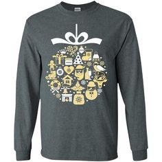 Merry Christmas and Happy New Year4-01 G240 Gildan LS Ultra Cotton T-Shirt