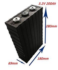 200Ah 3.2V Lithium Solar Storage Batteries, LiFePO4 Positive Materials, 25 Years Life Solar Storage Batteries, Car Audio, Solar Power, Outdoor Decor, Life, Solar Energy