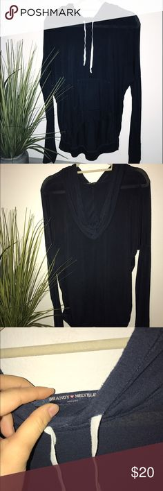 Brandy Melville slouchy sweater Dark blue light slouchy sweater. Perfect for layering! Brandy Melville Sweaters