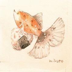 【mikoto0719】さんのInstagramをピンしています。 《ブリストル朱文金とおにぎり。金魚美抄展で販売予定です。 #kingyo #金魚 #goldfish #aquarium #fish #pet #ペット #小動物 #可愛い #kawaii #アクアリウム #petfish #cutefish #fancygoldfish #観賞魚 #朱文金 #ブリストル朱文金  #illustration  #animalcreatives #イラスト #キャラクター #イラスト #ゆるかわ #ゆるキャラ  #kawaii #illustration #サンリオ #リラックマ  #水彩画 #色鉛筆画 #手描きイラスト》