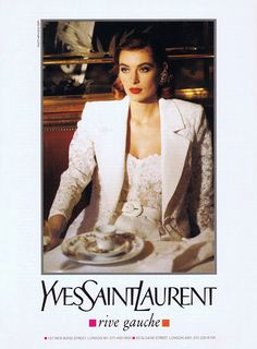 YSL ad 1991 feat Ludmilla Isaeva Malahova