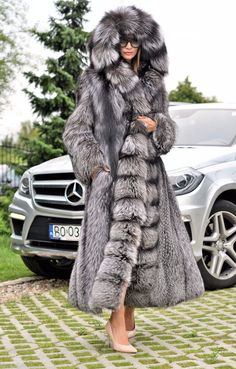 NEW 2016 Silver FOX Long FUR Coat Hood Clas OF Chinchilla Sable Jacket Mink Lynx | eBay