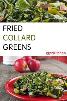 Made with chicken or ham bouillon cube, collard greens, water, bacon, bacon drippings, salt, sugar | CDKitchen.com