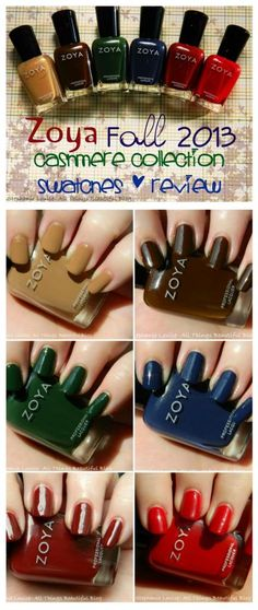 Zoya Fall 2013 Cashmere Collection Swatches & Review http://stephanielouiseatb.blogspot.com/2013/08/zoya-fall-2013-cashmere-collection.html  #nails #fall #zoya #nailpolish