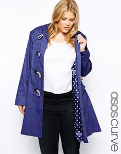 05be307eed1 ASOS CURVE Exclusive Hooded Duffle Coat at asos.com