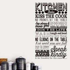 My vinilo. vinilos decorativos. decoración de pared. papel tapiz. Decohunter. Fun and graphics. Kitchen Rules. Encuentra donde comprar este producto en Colombia