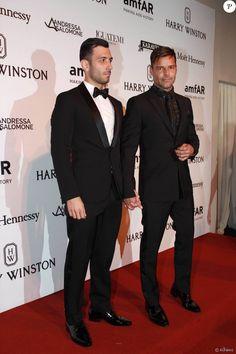 Ricky Martin levou o namorado, no baile da amFar nesta sexta-feira, dia 15 de abril de 2016