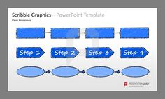 Scribble Graphics PowerPoint Templates Icons and sketches, objects, templates for topics like business,  finance, organization, travel, motivation or team for PowerPoint.    #presentationload