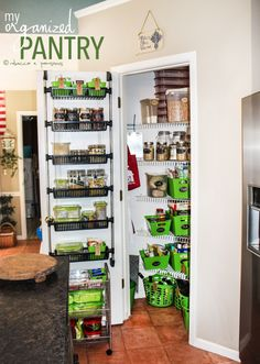 My Organized Pantry after a makeover