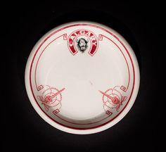 Calgary  Butterpat  by John Maddocks & Sons, Ltd., circa 1920s-1940 Offered by Track 16. http://www.track16.com #restaurantware #restaurantchina