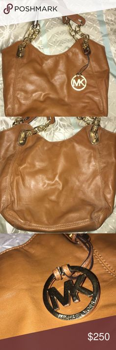 brown MK purse Brown MK purse given as a gift. used like once or twice, not really my style so I want to get rid of it. NO BS ask ?'s if you have them. Willing to negotiate >>reasonable prices only<<. Michael Kors Bags