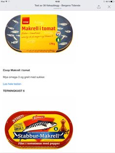 Makrell Vitamin D, Omega 3, Chart