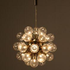 Robert Haussmann; Brass Ceiling Light, 1960s.