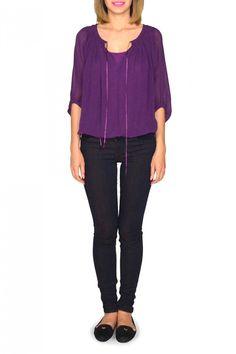 #kasnewyork #top #Marina #purple #blouse  Shop the look on KAS New York :http://www.kasnewyork.com/index.php?page=productslist&storeid=89&categoryID=1254&subcatID=&subsubcatID=&prodid=6203&sess=store89